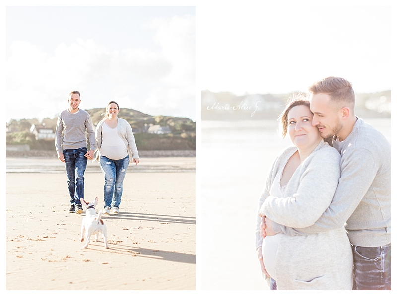 Photographe-Grossesse-Valognes-Cherbourg-plage-siouville