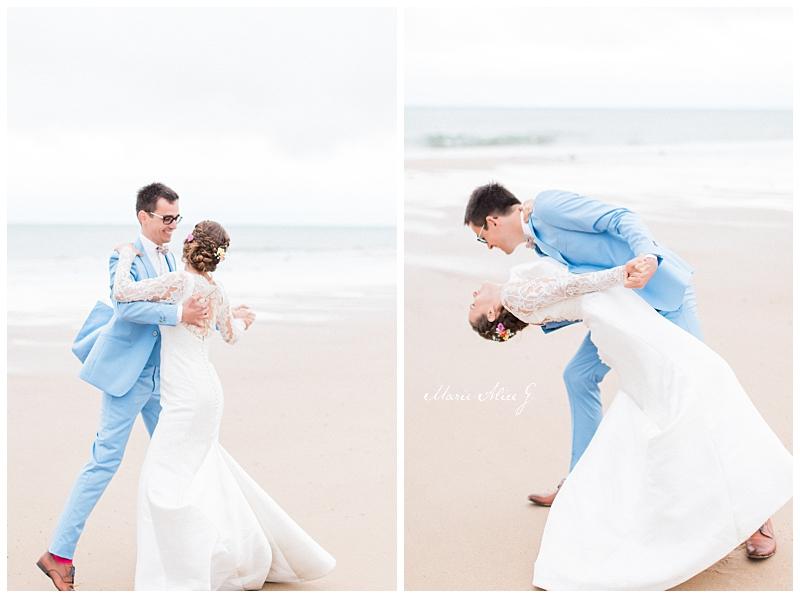 Photographe-Mariage-plage-carteret-vieille-eglise-Manche